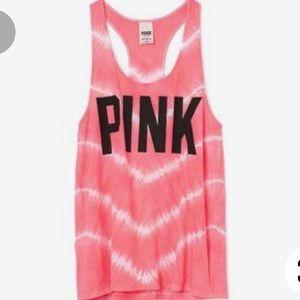 Victoria's Secret Pink Tie Dye Striped Tank Top